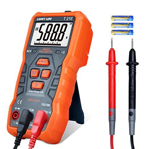 Multímetro Digital Automático,LOMVUM T21E Polimetro Digital Multimetre,6000 Cuentas Tester Digital