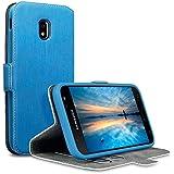 Coque Galaxy J3 2017, Terrapin Étui Housse en Cuir Ultra-mince Avec La Fonction Stand pour Samsung Galaxy J3 2017 (Version J330F) Étui - Bleu