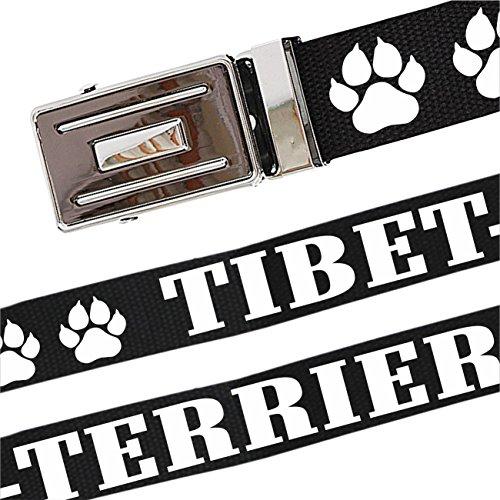 Gürtel mit Spruch Tibet Terrier stufenlos verstellbar bis 140 cm Lang -