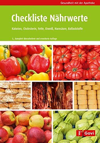 Checkliste Nährwerte: Kalorien, Cholesterin, Fette, Eiweiß, Purine, Ballaststoffe (Gesundheit mit der Apotheke)