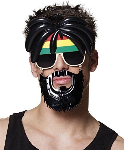 erdbeerclown - Brille Kostüm Maske Sonnebrille Bart, (Kostüm Biene Bart)
