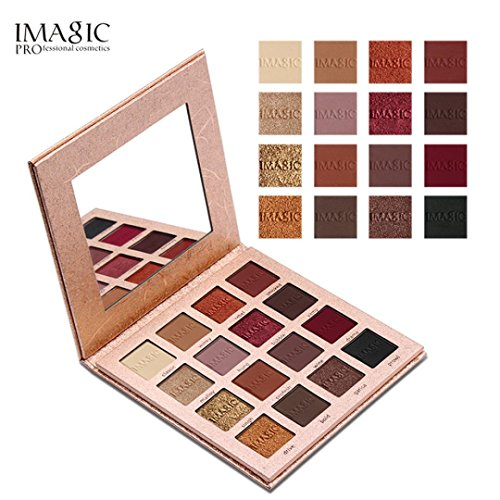 Oyedens 16 Colors Makeup Matte & Metallic Glitter Shimmer Eye Shadow Pigment Cosmetic Eyeshadow Palette