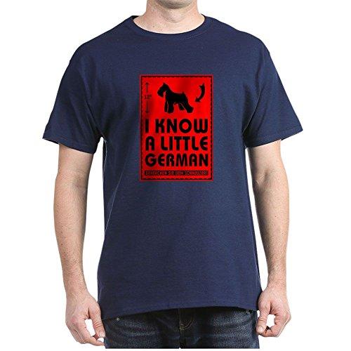 CafePress Little Deutsch. Schnauzer T-Shirt–100% Baumwolle Schwarz Gr. Medium, Navy (Schnauzer-rock)
