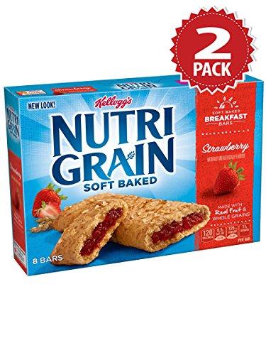 Nutri-grain Cereal Bars (Kellogg's Nutri-Grain Strawberry Cereal Bars - 2er Pack (2x295g))