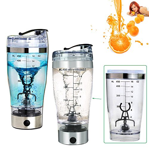 Tragbare Mixer Flasche Tasse für Kaffee Obstsaft Protein Shaker Tornado Mixer Cup Rühren 450ml Versand aus - Mixer-cup Power