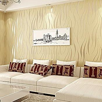 KINLO Tapete Vlies 3d 10x0.53m Tapete Beige Barock Tapete Wand Für  Wohnzimmer TOP Qualität