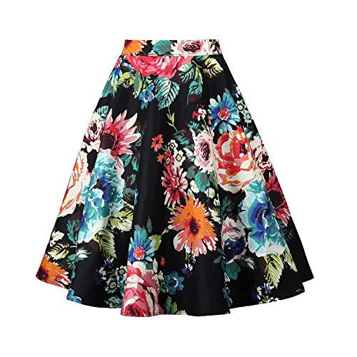 SEMIR Mujeres Faldas Vintage Estampado Floral Cintura