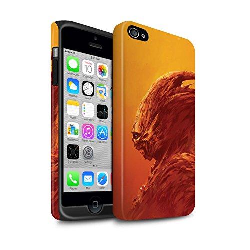 Offiziell Chris Cold Hülle / Matte Harten Stoßfest Case für Apple iPhone 4/4S / Herzensucher Muster / Wilden Kreaturen Kollektion Raubtier/Jäger