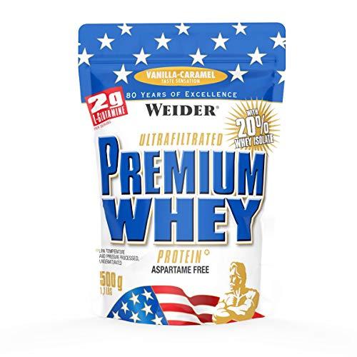 Weider, Premium Whey Protein, Vanille-Karamell, 1er Pack (1x 500g) (Egg Vanille Protein)