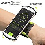 Fascia da Braccio Sportiva Smartphone,Porta Cellulare Armband da Polso con Rotazione di 180 Gradi per Corsa Running Jogging Maratona Palestra (Verde)