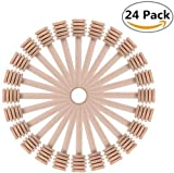 Spargimiele Surenhap, 24confezioni 7,6cm mini Wood Honey Dipper stick per Honey Jar dispense