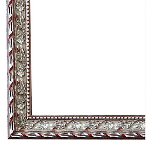 Bilderrahmen Brescia Silber 2,0-30 x 40 cm - WRF - 500 Varianten - Alle Größen - Handgefertigt -...