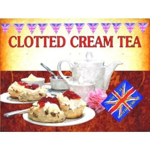 Clotted Cream Tea Una pentola di tè Biscotti Marmellata e fresco Clotted Clotted Cream Tea Una pentola di tè Biscotti Marmellata e fresco Polenta in confezione grande tela