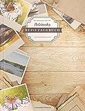 DÉKOKIND Reisetagebuch: DIN A4, 100+ Seiten, Register, Vintage Softcover   Perfekt als Abschiedsgeschenk   Motiv: Polaroid Photo