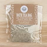 Lime, Cedar Wood and Green Tea Bath Tea Bag by Wild-Olive Ltd
