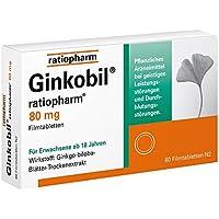 Preisvergleich für Ginkobil ratiopharm 80 mg Filmtabletten 60 stk