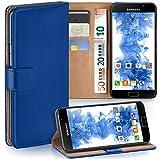 moex Samsung Galaxy A5 (2016) | Hülle Blau mit Karten-Fach 360° Book Klapp-Hülle Handytasche Kunst-Leder Handyhülle für Samsung Galaxy A5 2016 Case Flip Cover Schutzhülle Tasche