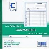 Elve 2110 Manifold autocopiant commande Format 21x21cm, 50 feuillets triples numérotés