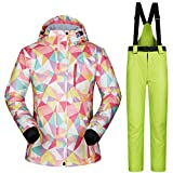 Chaquetas y Pantalones de Esquiar de Las Mujeres Ropa de la Snowboard Trajes de esquí a Prueba de Viento Calientes
