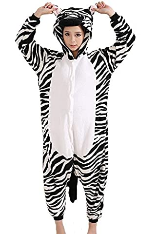 Deguisement Combinaison Pyjama Licorne Adulte Unisexe Unicorne Animaux Anime Cosplay Costume Fleece Kigurumi Onesie Outfit Nuit Vêtements Halloween Noel Party Soirée de Déguisement -