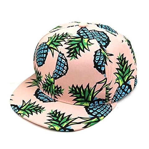 Casquette Baseball,OverDose Femmes Casquette Youth Ananas Hat Ajustable Hip-Hop Snapback Cap (A)