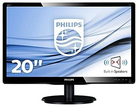 Philips 200V4LAB2/00 19,5 cm (19,5 Zoll) Monitor (VGA, DVI, 1600 x 900, integrierte Lautsprecher)