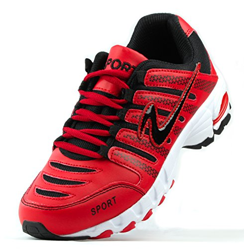 schwarz Indoor Fitness 42 B2145 outdoor jogging Laufschuh Sport Turnschuh 7 Rot Schuh Puge eu Schnürschuh 36 qZg0w