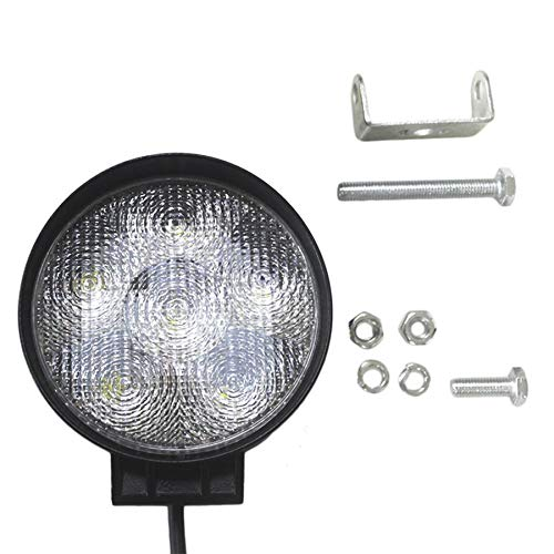 18W 6 LEDs Round 12V Spot/Flood Beam Work Lamp Light For Offroad Vehicles Low Power Consumption and Long Term Lasting