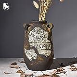 Creative ripristinando antiche vie di primitiva semplicità arte scultura vaso in ceramica salotto manuale desktop artigianato articoli di arredamento,Tall bottiglia,ciano - lpkone - amazon.it