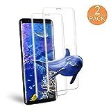 Galaxy S8 Verre Trempé écran Protecteur, Hanbee [Lot de 2] Film Protection en écran Protecteur [Erreur sans, Bulle sans] [Coque compatible] Couverture complète, Ultra Résistant Dureté 9H Protection écran pour Samsung Galaxy S8