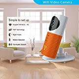 Clever Dog Wireless Security Wifi Cameras/Smart Baby Monitor/Surveillance Security Camera With P2P, Night Vision, Record Video, Two-way Audio, Motion Detection, Iphone Ipad Android(with Adaptor)(Orange)