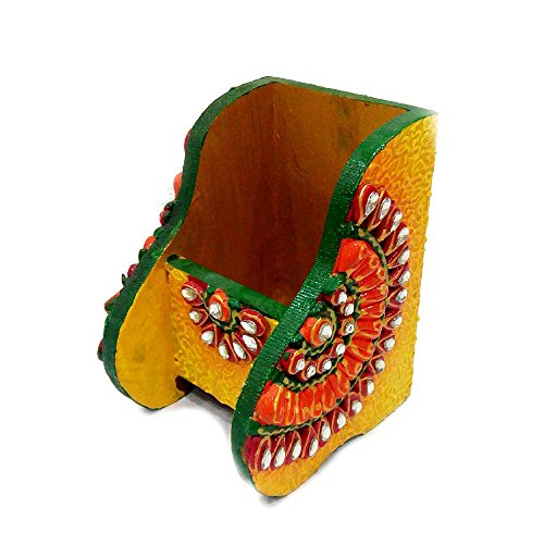 Kundan Work Wooden Pen Stand