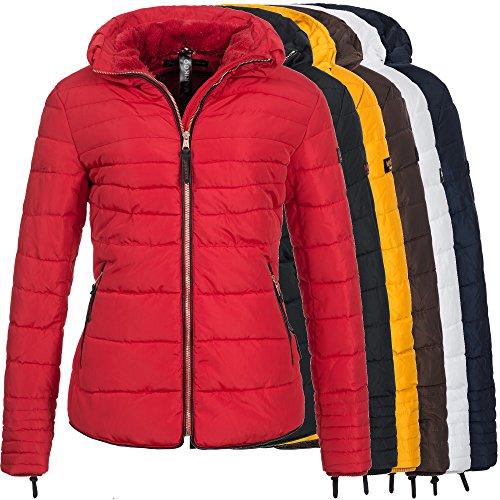 Marikoo AMBER2 Damen Jacke Steppjacke Parka Mantel Winterjacke warm gefüttert 9-Farben XS-XXL