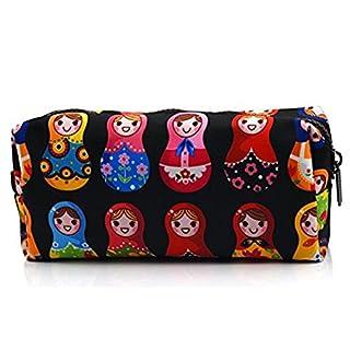 Matryoshka, Federmäppchen mit Reißverschluss, Puppentasche, Kosmetiktasche, Motiv: Russische Puppe, Geldbörse, Make-Up-Tasche