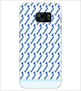 PrintDhaba Heart Pattern D-1491 Back Case Cover for SAMSUNG GALAXY S7 (Multi-Coloured)