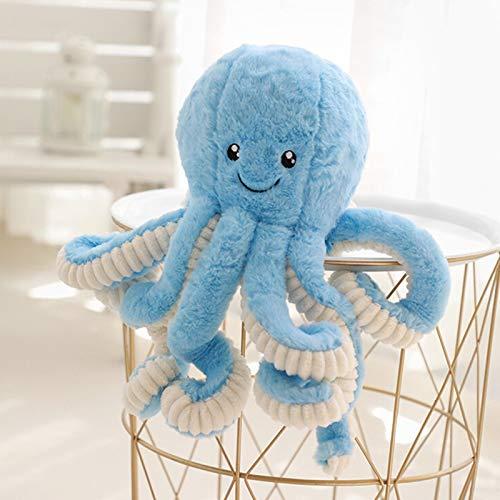 LAMF Pulpo de Felpa Gigante Animales de Peluche Vivid Plush Ocean Toys para niños y niños, Azul, 15.7''(40cm)