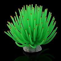 Coral Plástico Artificial Decoración para Acuario Pecera Peces Color Verde