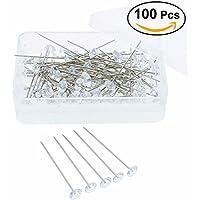 ultnice 100pz Curvy Pins de ramo floral para la decoración de bodas de cristal