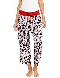Disney Mickey Mouse Women's Knit Sleep Capri Lounge Pants