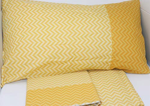 Caleffi completo lenzuola letto piazza e mezza misura francese maxi art. roy in puro cotone con due federe var. oro 030