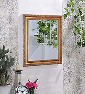 Art Street Royal Decorative Wall Mirror/Looking Glass Gold Inner Size 12 x 18 inch, Outer Size 17 x 23 inch