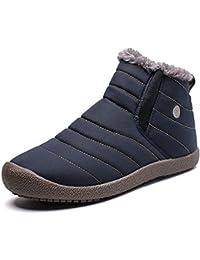 Stivali da Invernali Donna Uomo Stivaletti con Calde Pelliccia Fodera Scarpe  Comodi Antiscivolo Botas 36- 4e352eec2a8