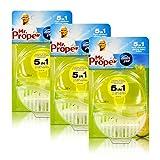3x Mr.Proper Starterset Ambi Pur 5in1 Lemon & Lime WC-Stein flüssig mit Halterung