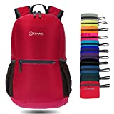 ZOMAKE Ultra Lightweight Packable Backpack Water Resistant Hiking Daypack,Small Backpack Handy Foldable Travel Outdoor Backpack(Red)