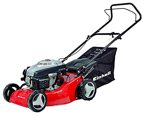 Einhell Benzin Rasenmäher GC-PM 46 (1,9 kW, 139 cm³, 46 cm Schnittbreite, 50 l Fangsack, empfohlen bis 1200 (Günstig Rasenmäher)