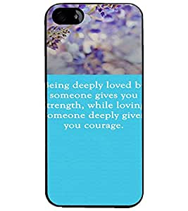 PrintDhaba Quote D-3719 Back Case Cover for APPLE IPHONE 5S (Multi-Coloured)