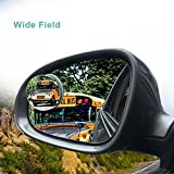 Blind Spot Mirror Round Wide Angle Mirror Adjustable Convex Rear View Mirror 360°Rotate