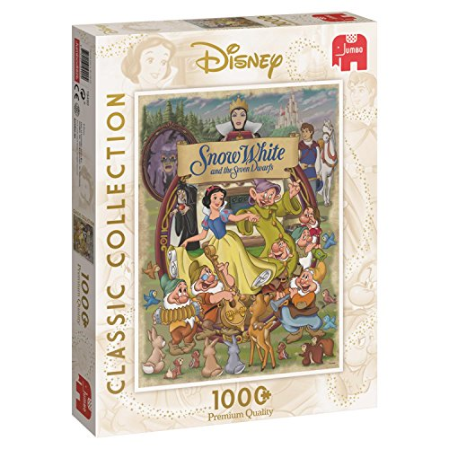 Jumbo Spiele 19490 Classic Collection Schneewittchen, Disney Puzzle, 1.000 Teile, ()
