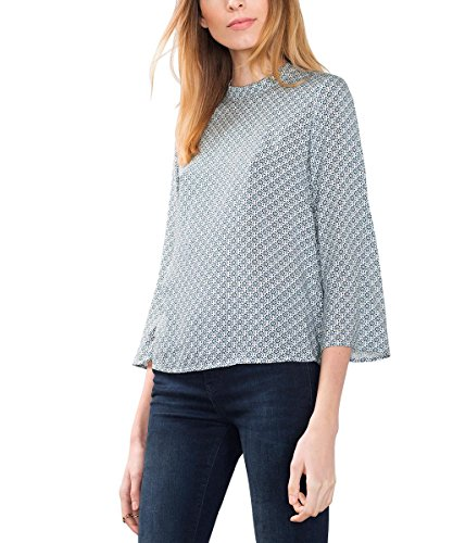ESPRIT 116EE1F012, Camicia Donna, Multicolore (Off White), 42