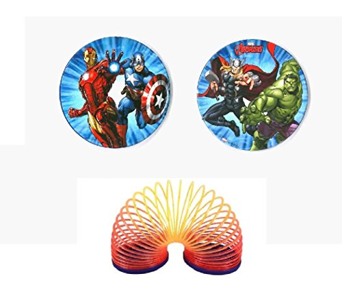 Lot de 10 Funny Twist Ondamania Ressort Avengers Marvel - Modèle Aléatoire - Jeu Jouet - 800